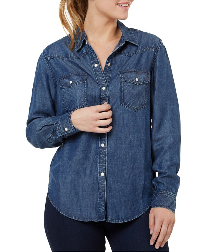 Numero - Button-Front Denim Shirt