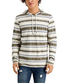 Men's Jacquard Folk Stripe Hoodie, Created for Macy's