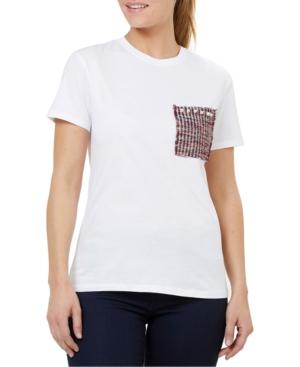 Numero Brocade Pocket Cotton T-Shirt