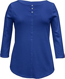 Cotton Triple-Keyhole Top, Created for Macy's