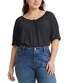 Trendy Plus Size Gloria Shirred Blouse