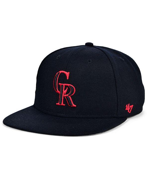 '47 Brand Colorado Rockies Bright Red Shot Snapback Cap