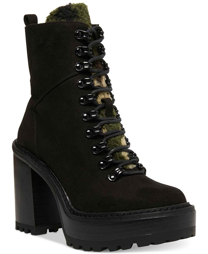 Madden Girl - Kikki Lace-Up Platform Lug Hiker Booties