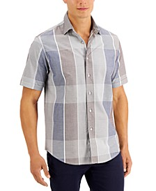 Men's Recinto Dobby Plaid Shirt, Created for Macy's