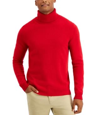 60s 70s Men's Jackets & Sweaters Tasso Elba Mens Cashmere Turtleneck Sweater Created for Macys $104.99 AT vintagedancer.com