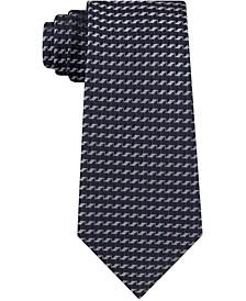 Men's Diamond Geometric Skinny Tie