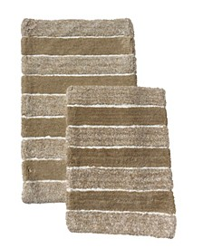 2-Pc. Tufted Stripe Bath Rug Set