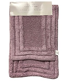 Coleman Cotton 2-Pc. Hotel Border Bath Rug Set
