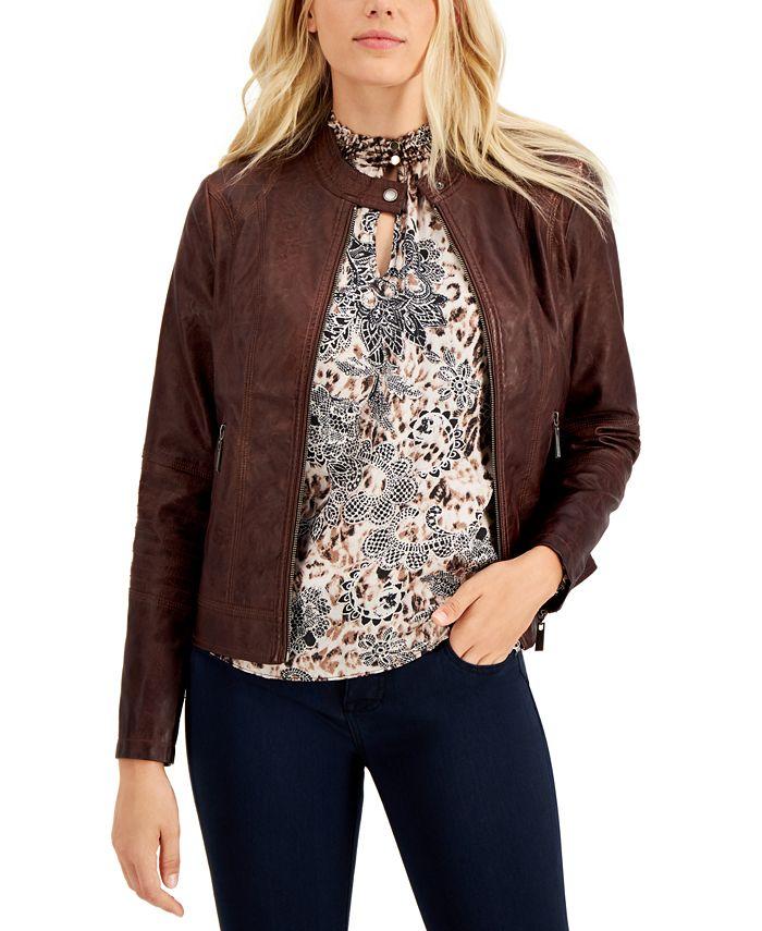 Jou Jou - Juniors' Faux-Leather Jacket