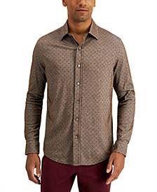 Men's Diamond-Print Shirt, Created for Macy's