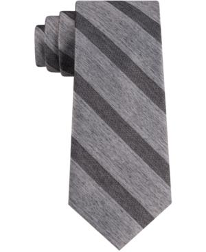 Calvin Klein Men's Tri Contrast Stripe Skinny Tie