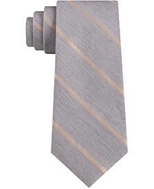 Men's Small Contrast Stripe Skinny Tie