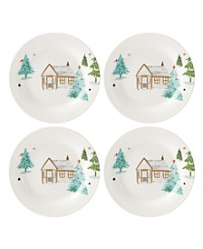 Balsam Lane 4-Piece Tidbit Plate Set