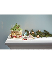 CLOSEOUT! Light-Up Christmas Gnome House Figurine