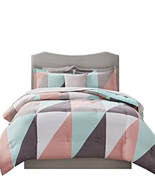 Remy 8 Piece Reversible Full Bedding Set