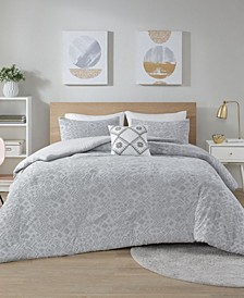 Lane 4 Piece Full/Queen Duvet Cover Set
