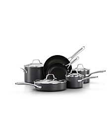 Classic Hard-Anodized Aluminum Nonstick 10-Pc. Cookware Set