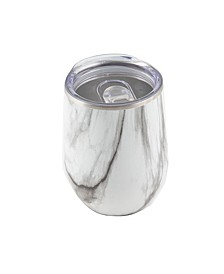 12 Oz Marble Decal Stainless Steel Wine Tumbler