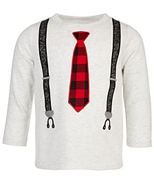 Baby Boys Long-Sleeve Tie & Suspenders T-Shirt, Created for Macy's