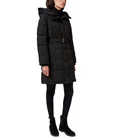 Sam Edelman Hooded Belted Puffer Coat