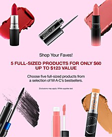Shop Your Faves! 5 Full-Sized Products for only $60 (up to $123 value).
