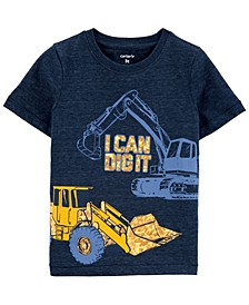Toddler Boy Construction Snow Yarn Tee