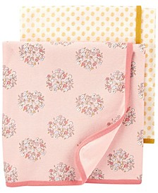 Baby Girl 2-Pack Floral Baby Blankets