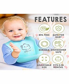 Baby Boys and Girls Silicone Bibs