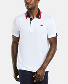 Men's SPORT Short Sleeve Polo Shirt with Contrast Colorblock Collar