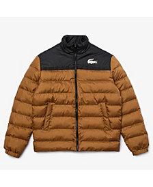 Lacoste Men's SPORT Two-Tone Colorblock Water-Repellent Puffer Jacket
