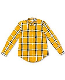 Petite Plaid Utility Shirt, Created for Macy's
