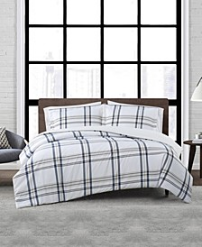 Kent Plaid 2 Piece Duvet Cover Set, Twin XL