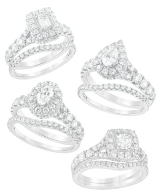 Diamond Halo Bridal Set (2 ct. t.w.) in 14K White, Yellow or Rose Gold