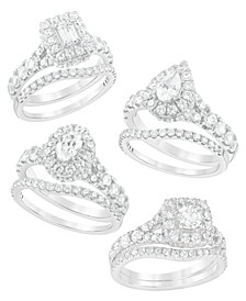 Diamond Halo Bridal Set (2 ct. t.w.) in 14K Gold