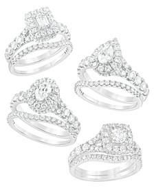 Diamond Halo Bridal Set (2 ct. t.w.) in 14K Gold