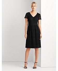 Geometric-Print Jersey Dress