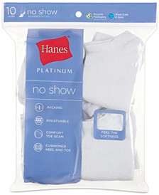 Women's Platinum 10pk No Show Socks
