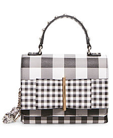Betsey Johnson Bowing Out Gingham Bow Crossbody