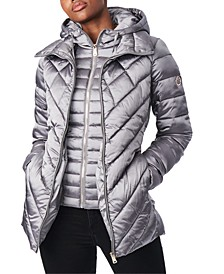 Bibbed Hooded Packable Puffer Coat