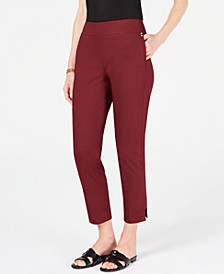 Side Step Hem Ankle Pants, Created for Macy's