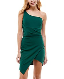 Juniors' One-Shoulder Dress