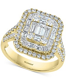 EFFY® Diamond Cluster Statement Ring (2 ct. t.w.) in 14k White Gold or Yellow Gold