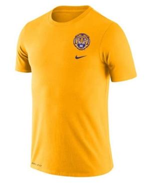 Nike Lsu Tigers Men's Dri-Fit Cotton Dna T-Shirt