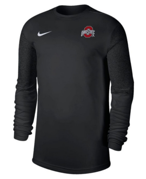 Nike Ohio State Buckeyes Men's Uv Coaches Long Sleeve Top