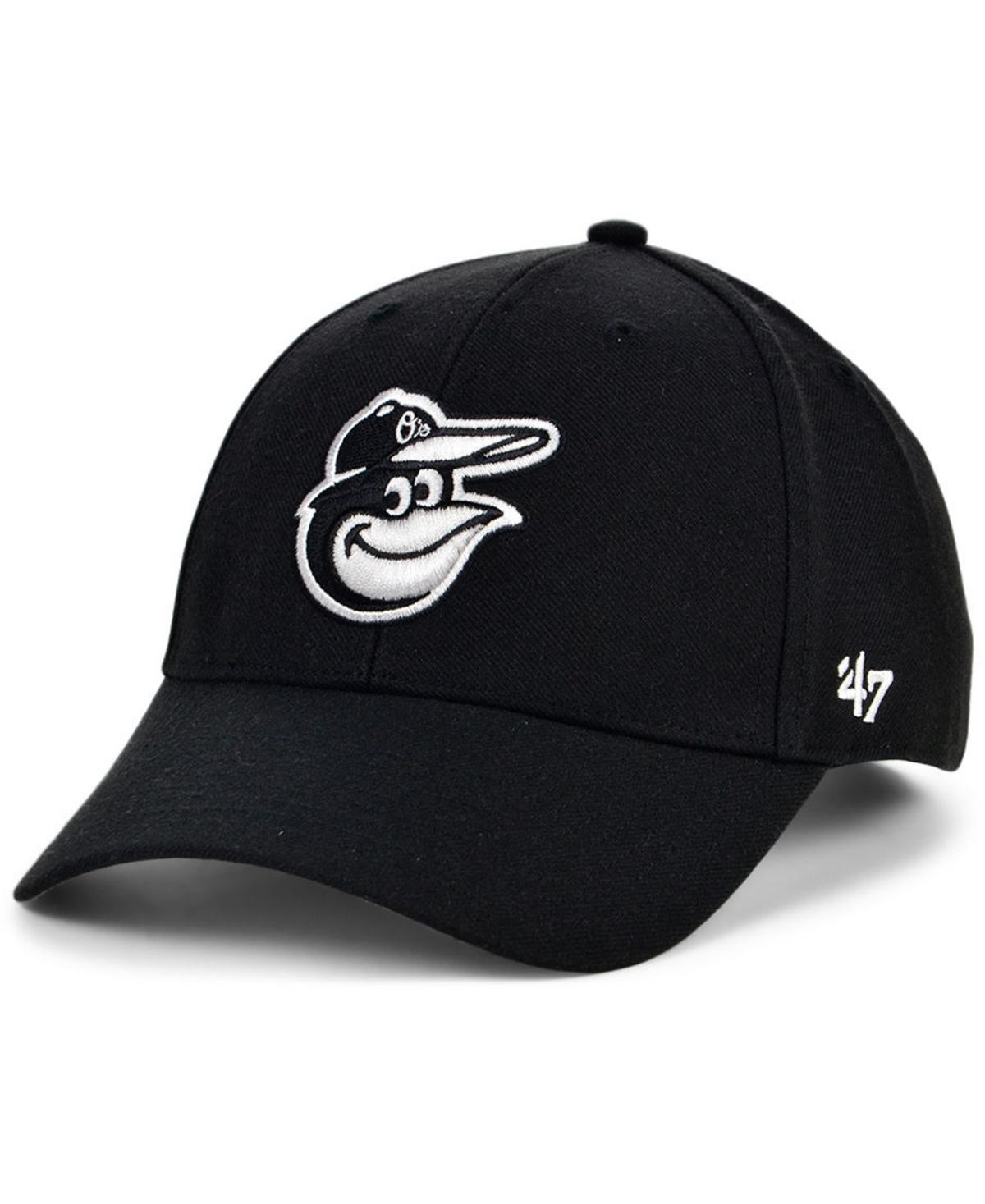47 Brand Baltimore Orioles Black White Mvp Cap