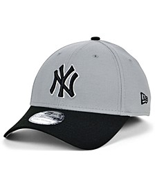 New York Yankees Team Classic Gray Black White 39THIRTY Cap