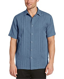 Men's Cross-Dyed Triple-Tucked Panel Shirt