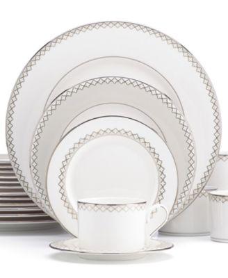 main image; main image ...  sc 1 st  Macyu0027s & Lenox Dinnerware Quatrefoil 20 Piece Set - Fine China - Macyu0027s