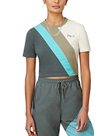 Ekta Colorblocked Cropped T-Shirt