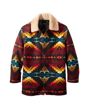 Pendleton Mens Brownsville Shearling Collar Coat In Sierra Ridge - Oxford Mix